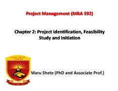 Chapter Two_Project Identification and Feasibility Study