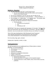 Written Assignment Guidelines.doc