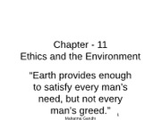 Chapter - 11 Ethics & the environment