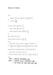 STAT 415 - Homework 1 Solution