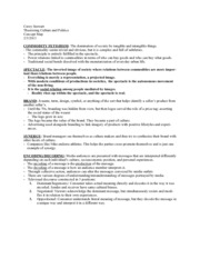Commodity Fetishism Concept Notes