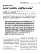 Comparative analyses of foregut and hindgut bacterial communities in hoatzins and cows (1)