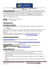 Winter 2013 Pharmacology Syllabus-VC1
