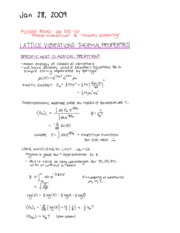 PHYS 474 LECTURE 11 NOTES