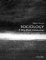 Sociology_ A Very Short Introduction (Ve - Steve Bruce