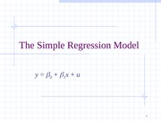 ch02 The Simple Regression Model