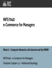 INFS7040 - Week 3 - Computer Networks, Internet and the World Wide Web - 1pp