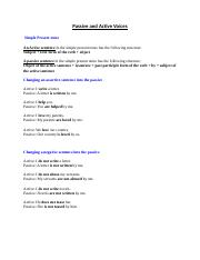 active-passive-tense wise rules docx - Simple Present tense