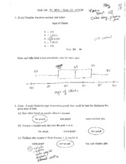 Exam 3 Spring 2009 Solutions