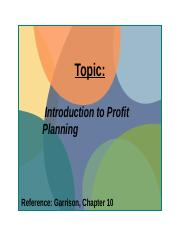 Week 14 Profit_Planning week beginning 21 July 2014 ( FV)(1).pptx