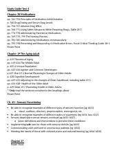 Study Guide for Chpts 28, 19, 27 and 43