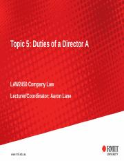 Topic 5 - Duties of directors Part A.ppt