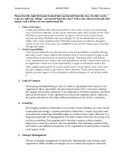 Strategic Management_Week 7 Discussion_Topic 1.docx
