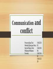 communication and conflict final