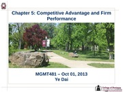 Session 06 - Chapter 5 Competitve Advantage & Firm Performance