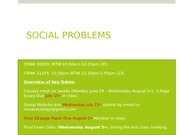 Social Problems Week. 5 SUM15