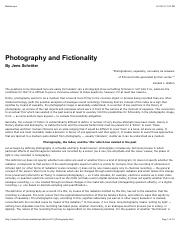 Photography and Fictionality