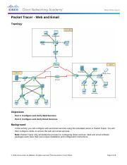 10.2.1.7 Packet Tracer - Web and Email