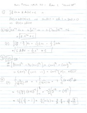 2013 Spring - Math 30 - Exam 2 Part 2 of Review - solutions