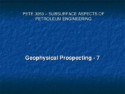 7 - Geophysical Methods