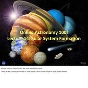 14 - The Solar System Formation