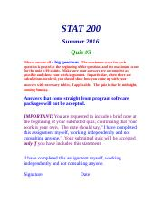 STAT200 Quiz 3 Christine Miller