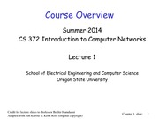 Lecture 1 on Course Introduction