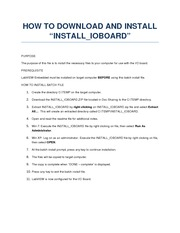 How to Download and Install INSTALL_IOBOARD