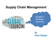 Chapter 4 Strategic Sourcing