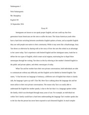 Final Draft Essay #1