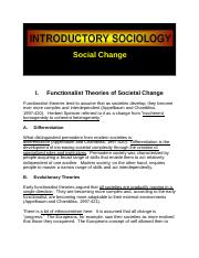 Social Change Theories Sociology.docx