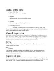 Film Review Assignment