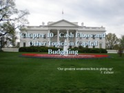 Cash Flows related to capital budgeting