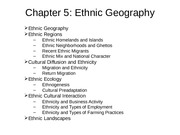 CD Chapter 5 Ethnic Geography[1]