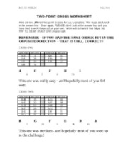 CROSSES WORKSHEET ANSWER KEY-1