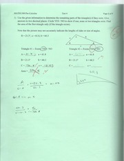 Pre-cal Finding Angles and Sides Pratice test