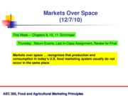 Dec. 7 -- Markets Over Space