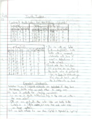Truth Tables notes