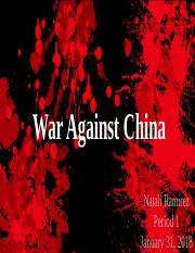 War Against China.pptx