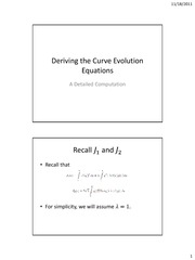 Deriving the Curve Evolution Equations