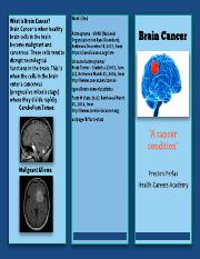 Final Brochure (Brain Cancer)