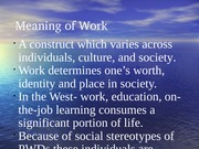 Meaning of Work