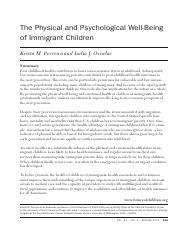 physical and psychological well being of immigrant children.pdf