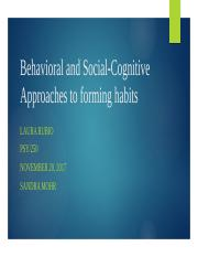 behavioral and social cognitive approaches