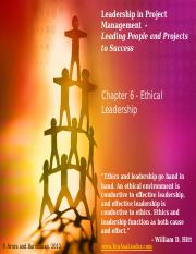 Leadership in Project Management - Chapter 6 - Instructor Slides - May 14, 2013