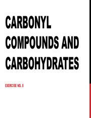 Exer 8 Carbonyl compounds and carbohydrates.pdf