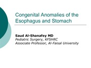 2Congenital Anomalies of the Esophagus and Stomach2