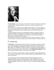 Max Planck Biography Assignment