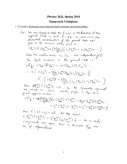 Phys 362k 2014 HW3 Solutions