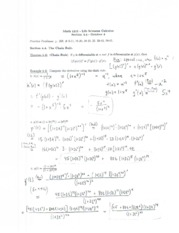 Math1215 Lecture Notes October 4